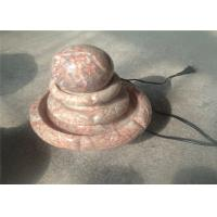 China Living Room Decorative Landscaping Stone Small Red Marble Ball Fountain wholesale