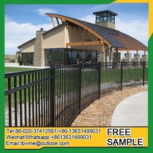 China FortLauderdale steel fence panels Flint metal fencing garden wholesale