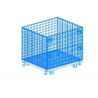 China Folding Wire Mesh Container / Small Mesh Containers Strong Structure wholesale