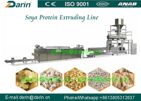 Quality Double screw extruder machine for Soya Protein , soybean extruder machine for sale
