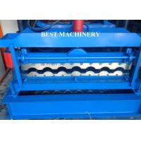 China Glazed Corrugated Metal Roof Tile Roll Forming Machine PLC Control System wholesale