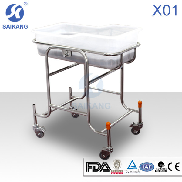Quality Hospital Furniture:Children Bed&Baby Crib, X01 Stainless Steel Children Bed for sale