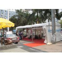 China Outdoor Aluminum Profile White PVC Fabric Cover UV Resistant Car Exhibition Tent wholesale