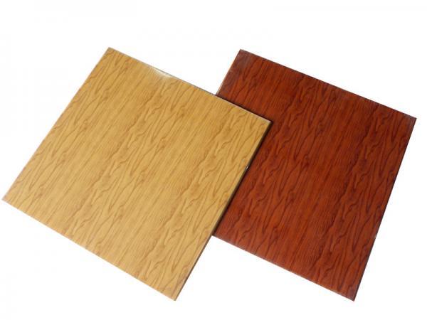 Quality Wood Grain CeilingPanels Fireproof PVCFalse Ceiling Tiles Laminated for sale