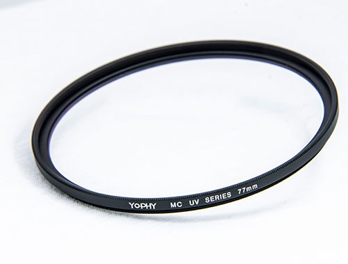 Quality Digital Camera Lens UV Filter Black Alloy Optical Glass For Photography for sale