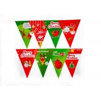China Christmas Pennant String Flags Heat Tranfer Printing UV Protection OEM Offered wholesale