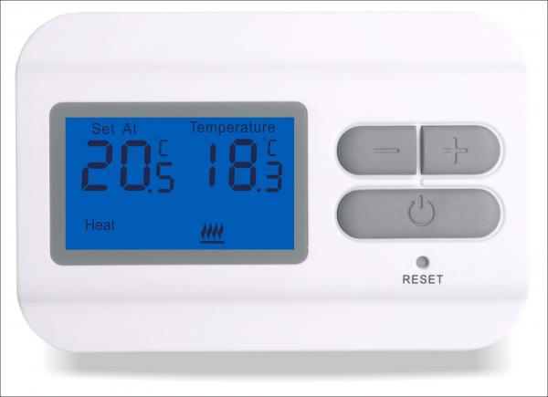 programmable digital thermostat european style programmable digital #005CB7