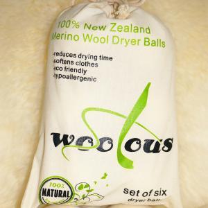 China Handmade 6 pack 9 inch new zealand merino wool dryer balls on sale