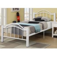 Adult Full Simple Metal Bed With Headboard Twin Size Custom Color