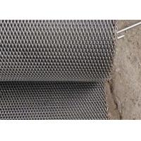 China Stainless Balanced Weave Conveyor Belts , Chain Mesh Belt For Sugar Oven on sale