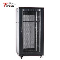 China 19 Inch 27U Mobile Server Rack 600 X 800mm Static Loading Capacity 500kg For Electric Industry wholesale