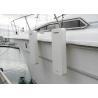 China Flat Foam Fender for Yacht Boat White Color Polyurethane Coating Fender with Ropes wholesale