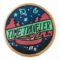 China Time Traveler Woven Badges Personalised Embroidered Iron On Badges wholesale