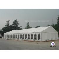 China 600 ~ 1000 Person Aluminum Frame Tent , White PVC Event Tent With Double Wing Glass Door on sale