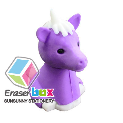 Quality Attractive colors TPR, PVC and Rubber SEA028 Unicorn shaped animal TPR shaped eraser for sale