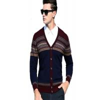 China New Arrival V Neck Mens Knit Sweater 100% Wool Material Soft Comfortable Feeling wholesale