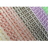 China Aluminum Decorative Jack Hook Meshed Curtain Designs Pattern Appearance on sale
