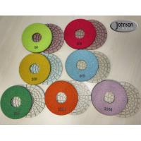 China 5 inch High Quality ceramic bond dry concrete polishing pad with long life for angle grinder wholesale