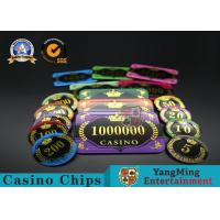 China Acrylic Crystal RFID Rectangular Poker Chips Plaque Casino Jeton Real Gaming wholesale