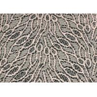 China Customized Jacquard Cotton Nylon Lace Fabric Shrink-Resistant SGS CE CY-LW0105 on sale