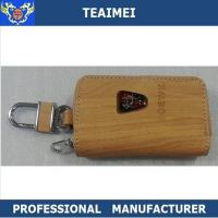 China Wooden / Black Roewe Automobile Leather Key Holder 100*60*25mm wholesale