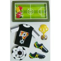 China Black Layered Paper Custom Die Cut Sticker Sheets Football Game Decorative wholesale