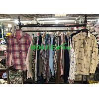 China Wearable Clean Mens Used Clothing Long Sleeves Mixed Color For Summer wholesale