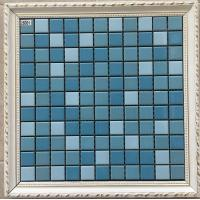 China Small Size Swimming Pool Mosaic Tiles 6mm Thickness Mesh Decorative Tiles on sale