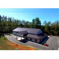 China Gable Style Architectural Commercial Steel Frame Buildings With Hipped Lean-To wholesale