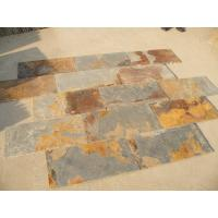 China S1120 Slate Natural Cleft Chinese Multicolor Slate Pavers Rusty Slate Patio Stones wholesale