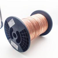 China Ustc Silked Covered 0.071mm Copper Litz Wire With 357 Strands Enameled wholesale
