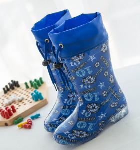 China Children Cute Rubber Rain Boots ,printed color garden boots wholesale