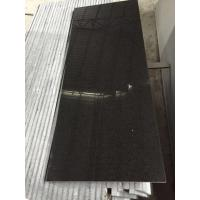 China G684 Fu Ding absolute Black granite tile counters for Door / window Sill on sale