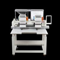 China High Speed Commercial Double Head Embroidery Machine 12 Colors Computerized wholesale