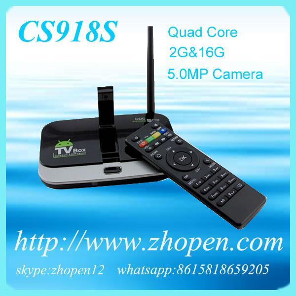 Quality 2013 best android media player google tv box cs918s for sale
