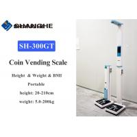 China Digital Lcd Display Medical Height And Weight Scales With Multi Coin Acceptor wholesale