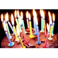 China Vertical Core Spiral Birthday Candles , Custom Birthday Cake Candles No Deformation wholesale