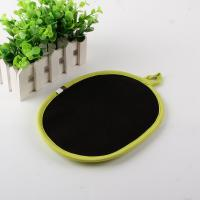 Ellipse Shape Heatproof Kitchen Oven Pot Holders One side Cotton,One side Silicone