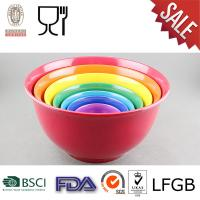 China Plastic Mixing Bowl Set with Solid color wholesale