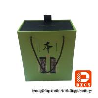 Elegant Eco Sturdy Cardboard Wine Gift Boxes Customized Gold Stamping Surface