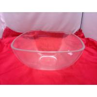 China Food-grade Square Clear Acrylic Bowl For Salad / Fruit 230 by 110mm on sale