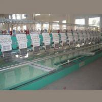 China Flat Computerized Embroidery Machine, 5/10-inch TFT Color LCD Screen, 450 to 600rpm Rotation Speed wholesale