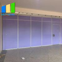 China Wooden Acoustic Room Dividers Folding Classroom Partition Sliding Door Movable Partition Wall on sale