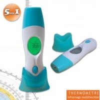China Baby Infrared Thermometer Thermomètre médical infrarouge 5 en 1 empérature auriculaire, frontale, d'un objet ou ambiant on sale