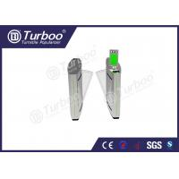 China Access Control Flap Barrier Gate / Electronic Turnstile Gates Infrared Sensors wholesale