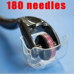 China 180 needle eye derma roller, dermaroller 0.5 mm 0.25mm 2.0mm for remove wrinkles, scars wholesale