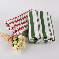 Quality White And Green Kitchen Tea Towels , Printed House Kitchen Dish Cloths for sale