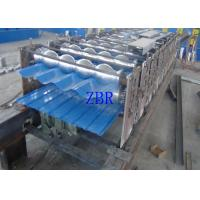 China Hydraulic Automatic Steel Tile Roll Forming Machine CNC Controlling System on sale