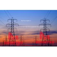 230KV double circuit light angle tension transmission line steel tower