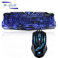 China 2016 Top Seller USB wired backlit best cheap pc keyboard and mouse combo wholesale